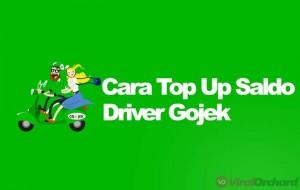 Cara Top Up Saldo Driver Gojek