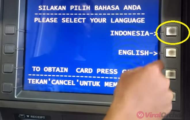 Memilih Bahasa ATM