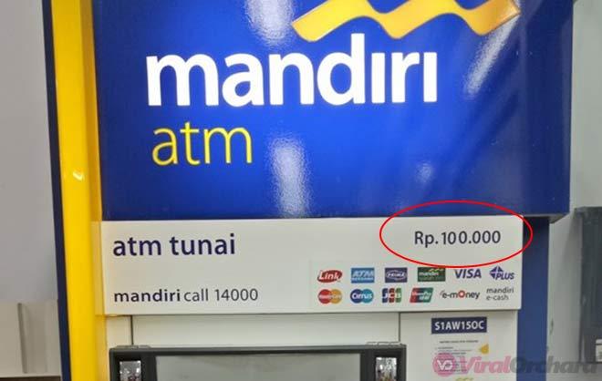 Pecahan Uang ATM Mandiri
