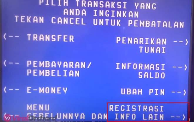 Registrasi Internet Banking BRI di ATM