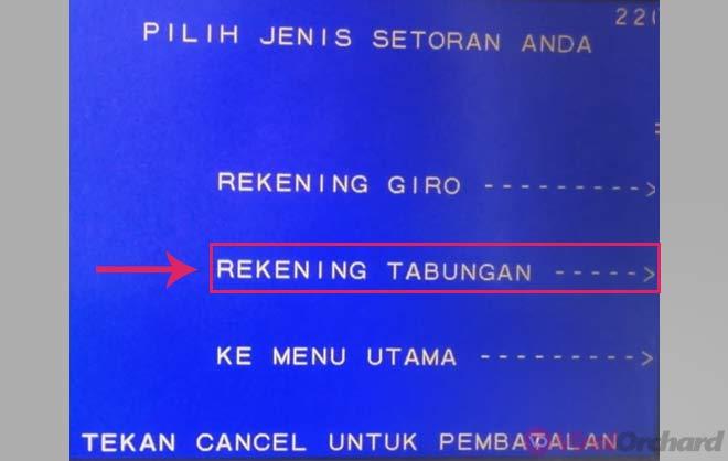 Cara Menambung BNI Di ATM