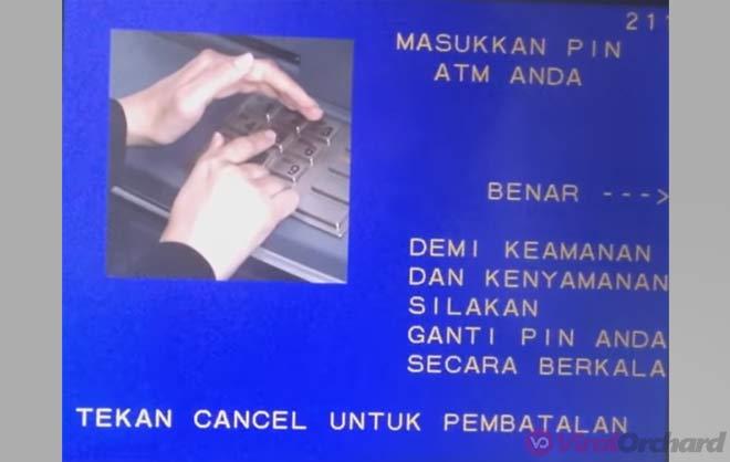 Masukan Pin ATM BNI