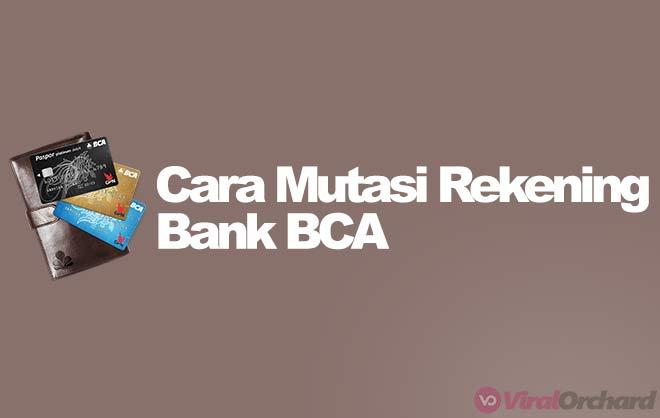 Cara Cek Mutasi Rekening BCA di ATM