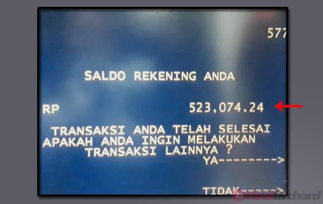 Cara Mengecek Sisa Saldo ATM Mandiri