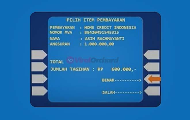 Cara Pembayaran Home Credit Lewat ATM Mandiri