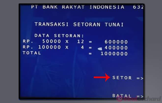 Cara Setor di ATM Bank BRI