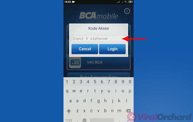 Kode Akses M BCA