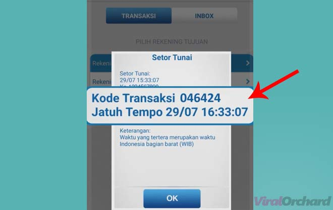 Kode Transaksi Setor Tunai BCA