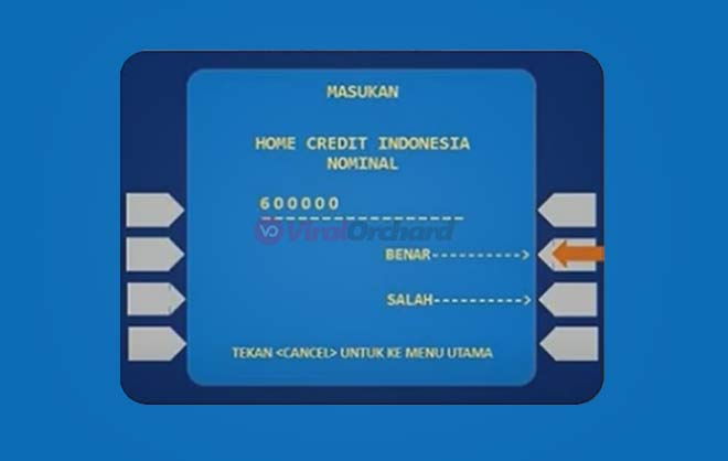 Nominal Pembayaran Home Credit