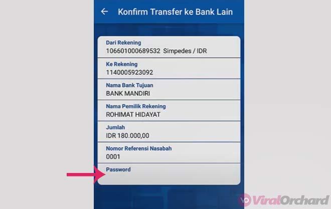 Password BRI Mobile