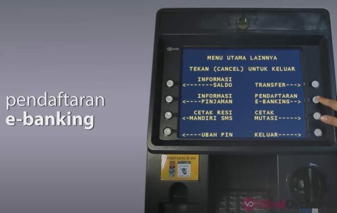 Cara Mendaftar Mobile Banking Mandiri di ATM