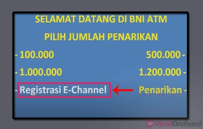 Registrasi SMS Banking BNI