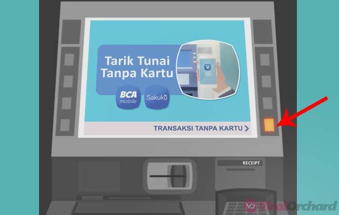 Transaksi Setor Tunai Tanpa Kartu