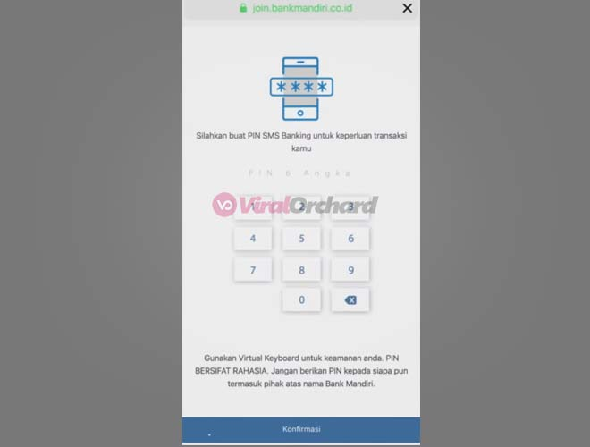 Buat PIN SMS Banking