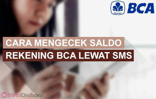 Cara Cek Saldo BCA Lewat SMS