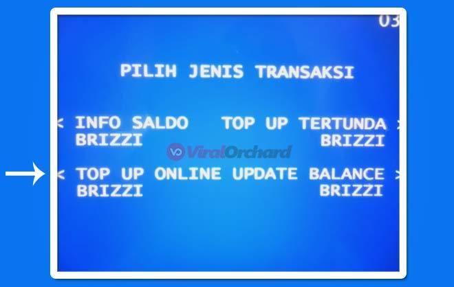 Cara Top Up Brizzi di ATM