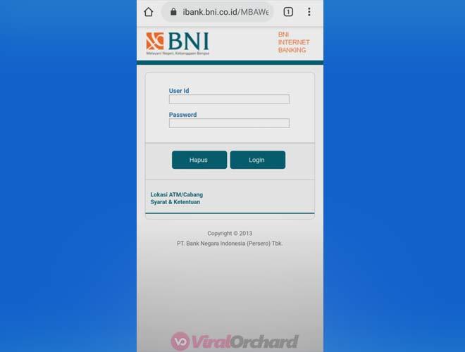 Cek Mutasi Internet Banking BNI