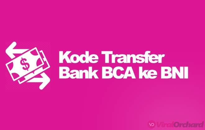 Kode Bank BCA ke BNI