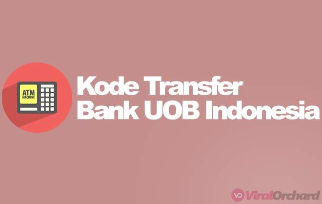 Kode Bank UOB Untuk Transfer