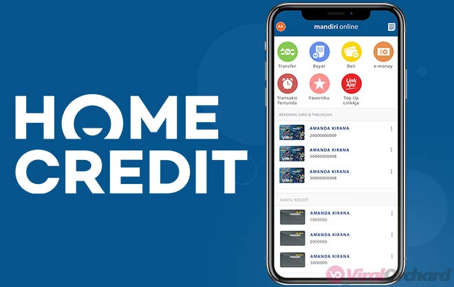 Cara Bayar Home Credit Via Mobile Banking Mandiri