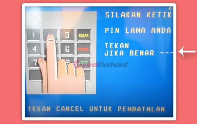 Masukan PIN ATM LAMA
