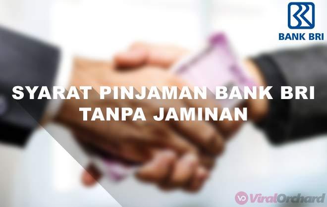 Syarat Pinjaman di Bank BRI Tanpa Jaminan
