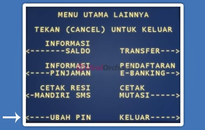 Cara Ubah PIN ATM Mandiri