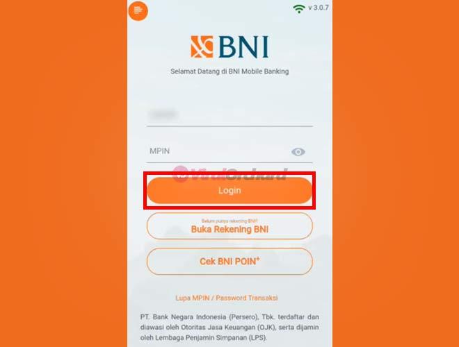Bayar BPJS M-Banking BNI