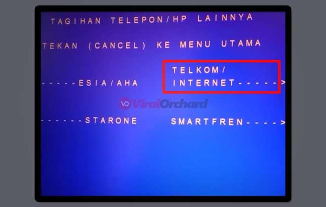 Bayar Internet Indihome Lewat ATM BRI