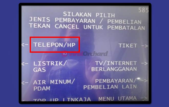 Bayar Internet WiFi Indihome Via ATM BRI