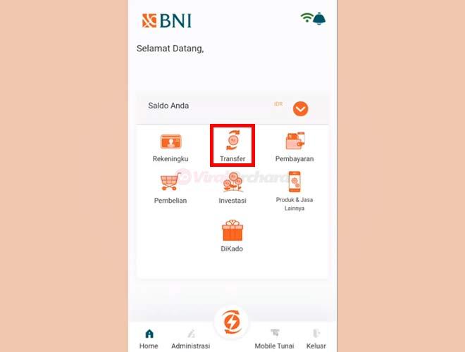 Cara Isi Saldo OVO M-Banking BNI