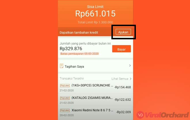 Cara Menabah Limit Shopee PayLater