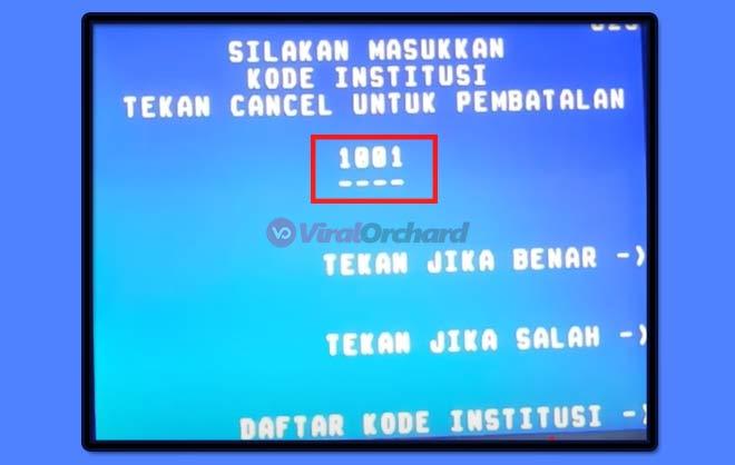 Kode FIF di ATM BNI