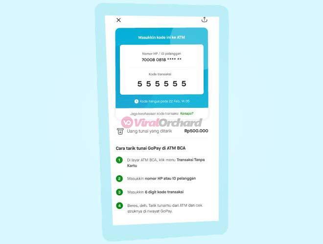 Kode Tarik Tunai GoPay di ATM BCA