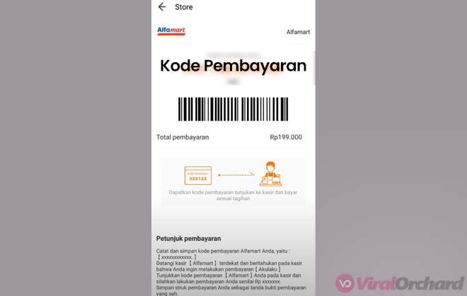 Kode Pembayaran Akulaku di Alfamart