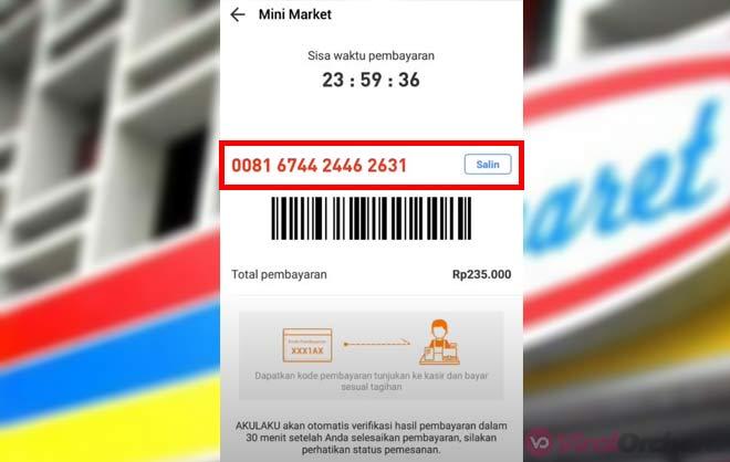 Kode Pembayaran Akulaku di Indomaret