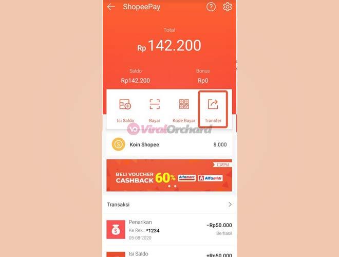 Transfer ShopeePay Ke Bank