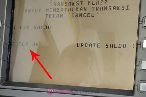 Top Up Saldo Flazz ATM BCA